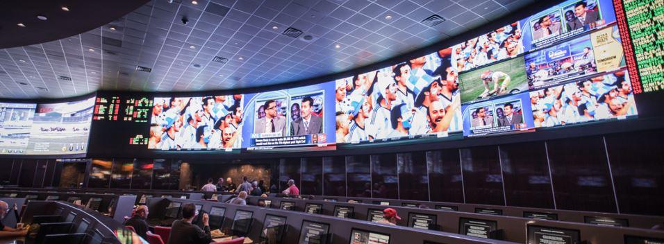 Palms sportsbar in Las Vegas met gigantishe tv-schermen